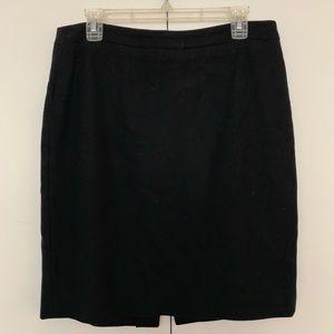 JCrew No 2 Pencil Skirt (Black, Wool, Size 10)